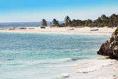 Beach of tulum in yucatan — Stock Photo