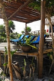 Terrace of a cabana — Stock Photo
