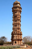 Tower of victory inside the Chittorgarh fort aera in rajasthan state in india — Stock Photo