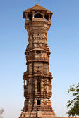 Tower of fame inside the Chittorgarh fort aera in rajasthan state in india — Stock Photo