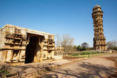 Inside the Chittorgarh fort aera in rajasthan state in india — Stock Photo