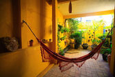 Hammock in patio — Stock Photo