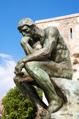 Copy of the thinker of rodin — Стоковое фото