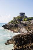 Mayan archeologic site of tulum — Stock Photo