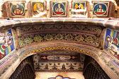 Podrobnosti konstrukce muraraka haveli v nawalgarh městského státu rádžasthán v indii — Stock fotografie