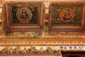 Details design of Muraraka haveli in nawalgarh city rajasthan state in india, christ — Stock Photo