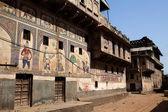 Details design of Muraraka haveli in nawalgarh city rajasthan state in india — Stock Photo