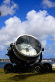 Old military searchlight — Stock Photo