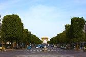Champs Elysees Avenue Paris — Stock Photo