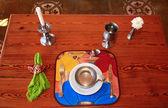 Restaurant table — Stock Photo