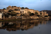 View of the lake of Udaipur in rajasthan state in india — Stock Photo