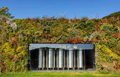 Wine fermentor in vineyard — Stock Photo