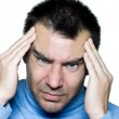 Man portrait headache migraine — Stock Photo