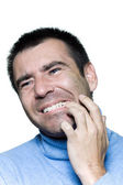 Man portrait toothache — Stock Photo