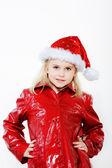 Malá dívka příprava vánoční strom — Stock fotografie