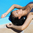 Women relaxing suntan — Stock Photo
