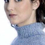 Studio shot portraits of a beautiful young woman — Stock Photo