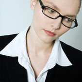 Cute strict woman — Stock Photo
