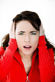 Beautiful expressive woman — Stock Photo