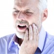 Senior man portrait toothache pain — Stock Photo #13670400