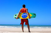 Kite surfing in brazil — Stock Photo
