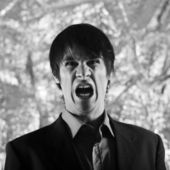 Expressive young man — Stock Photo