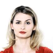 Cute interrogative woman — Stock Photo