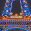 The Eiffel tower at night — Stock Photo #19121205