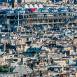 Aerial view beaubourg paris cityscape  France — Stock Photo