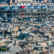 Aerial view beaubourg paris cityscape  France - Foto Stock