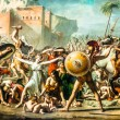 The Intervention of the Sabine Women david painting  Le Louvre p - Stock Photo