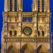 Notre dame de paris and the seine river France - Stock Photo