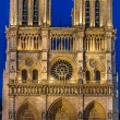 Notre dame de paris and the seine river France — Stock Photo #19122405