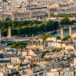 Aerial view paris cityscape  France — Stock Photo