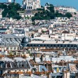 Aerial view paris cityscape  France - Stock Photo