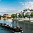 Peniche seine river paris city France — Stok fotoğraf