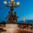 Pont Alexandre III  by night paris city France — Stock Photo