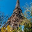 The eiffel tower paris city France — Stock fotografie