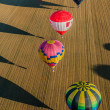 Mondial hot Air Ballon reunion in Lorraine France - Stock Photo