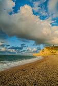 Etretat beach in normandie france — Stock Photo