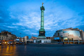 Place de la bastille column paris city France — Stock Photo