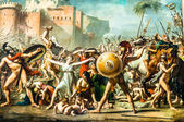 The Intervention of the Sabine Women david painting Le Louvre p — Stock Photo
