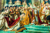 The Coronation of Napoleon david painting Le Louvre paris city — Stock Photo
