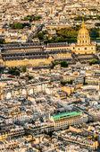 Aerial view invalides paris cityscape France — Stock Photo
