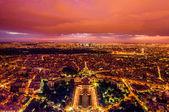 Aerial view paris cityscape France — Stock Photo