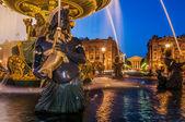 Place de la concorde foutain paris city France — Stock Photo