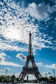 The eiffel tower at sunset paris city France — Stock Photo