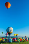 Mondial hot Air Ballon reunion in Lorraine France — Stockfoto