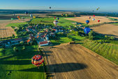 Mondial hot Air Ballon reunion in Lorraine France — Stock Photo