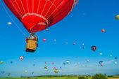 Mondial hot Air Ballon reunion in Lorraine France — Stock Photo
